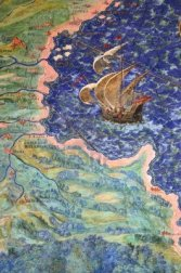 14136578-coastline-and-ship-detail-of-one-from-a-series-of-40-intricate-geographical-maps-designed-by-egnazio