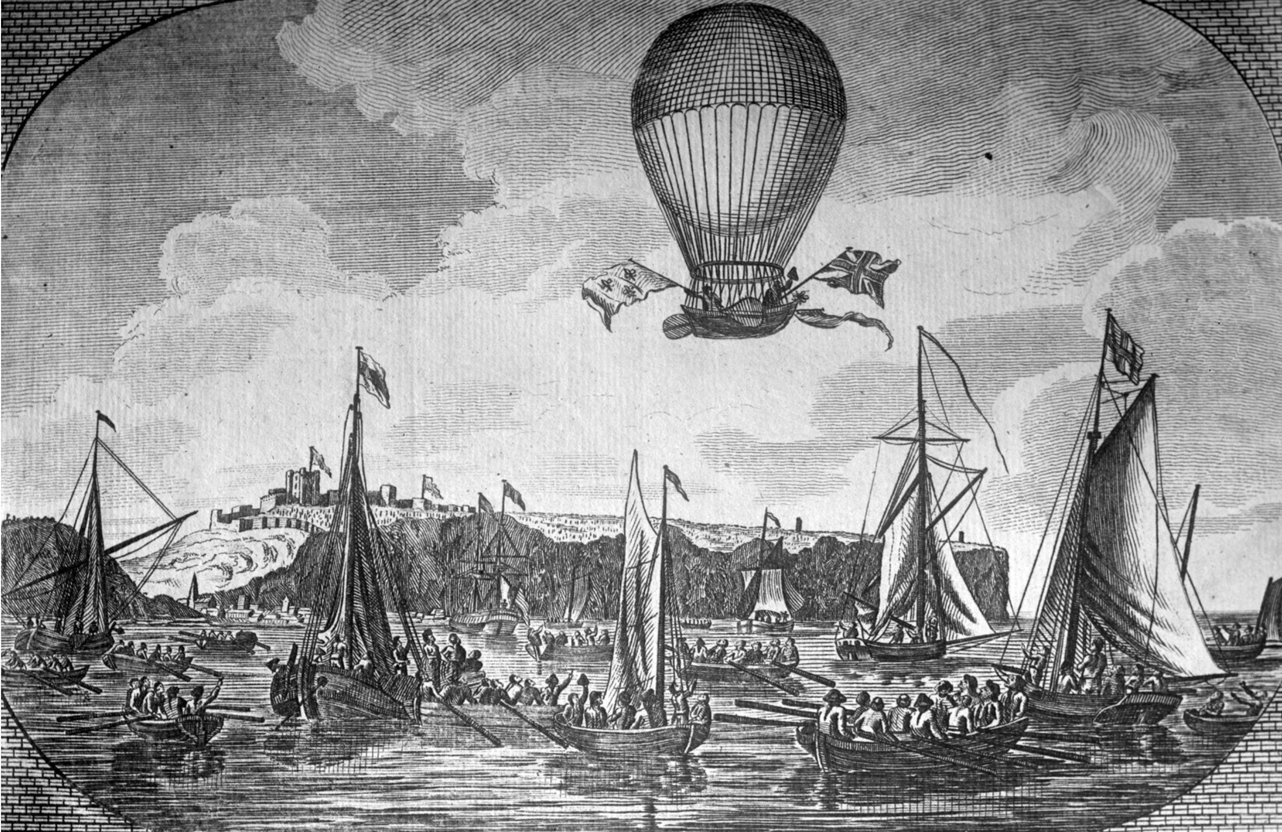 1785 British Channel crossed by balloon.png