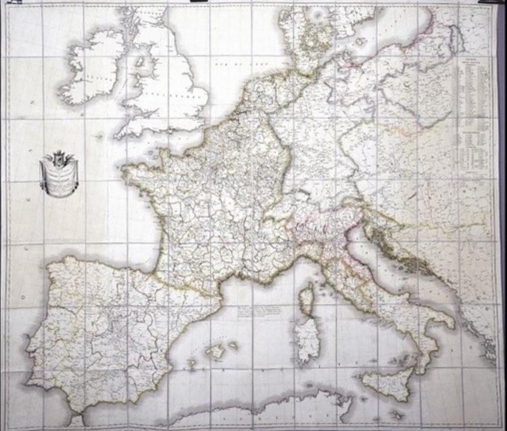 Napoleon's personalMap of French Empire