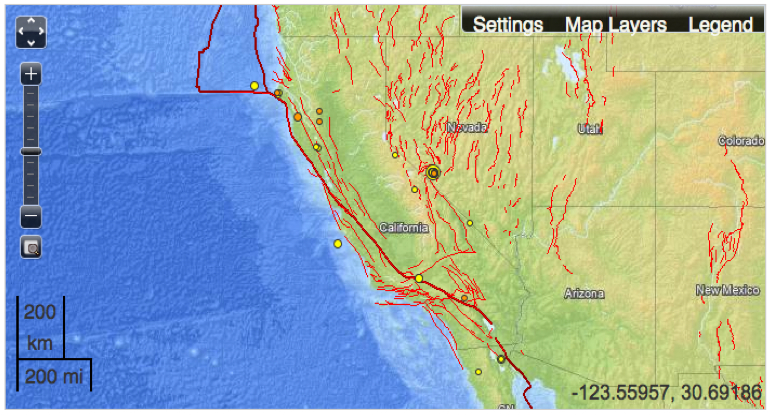 Mapping FaultLines in Earthquake Maps Musings on Maps