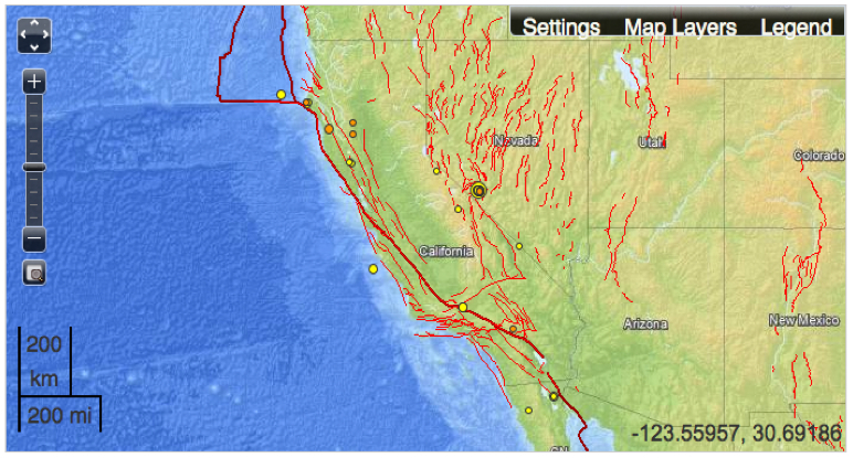 Mapping FaultLines In Earthquake Maps Musings On Maps - Us fault map