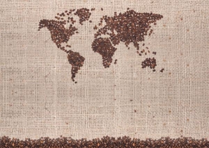 Coffee beans map