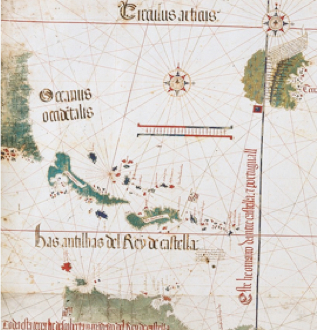 December 2013 musings on maps and far more clearly spatially situated in a maritime region that made clear in the woodcut of new world islands of salvatoris hyspana ysabella sciox Choice Image
