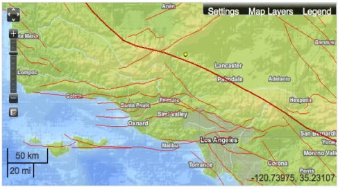 Los Angeles earthquake faults