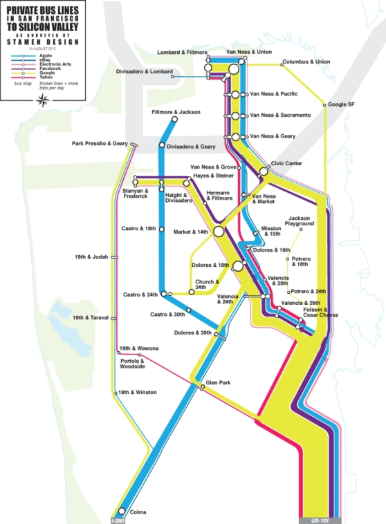 Private Bus Lines in San Francisco
