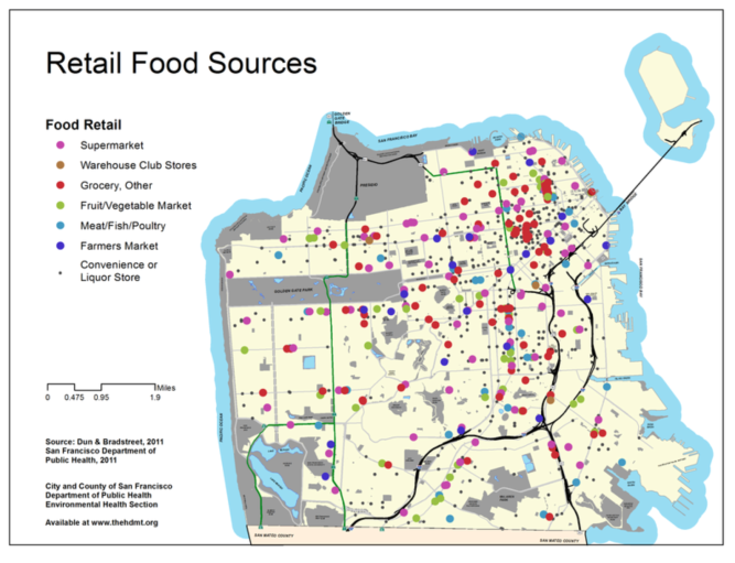 Retail foods SF