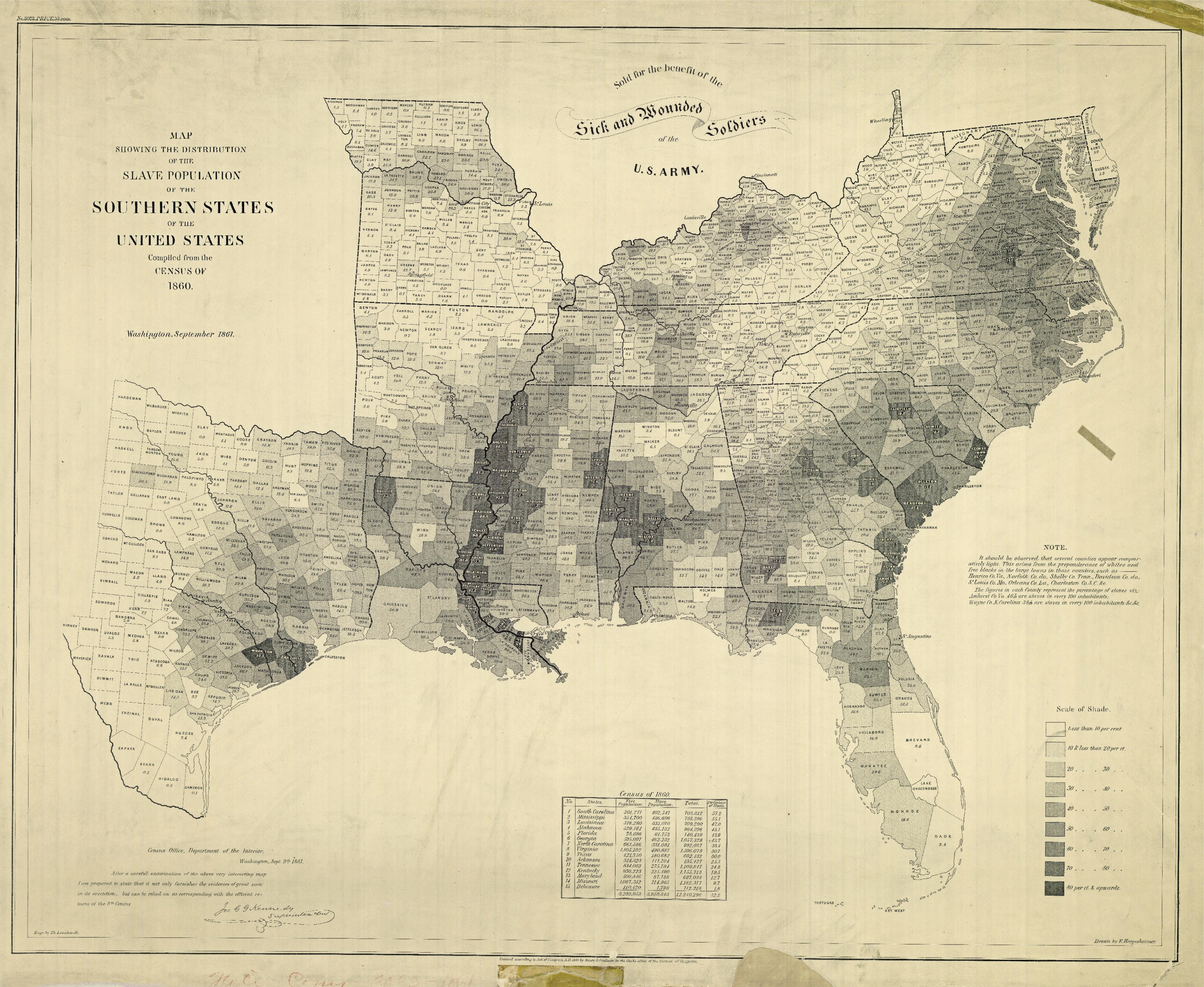 Slavery Map 1860