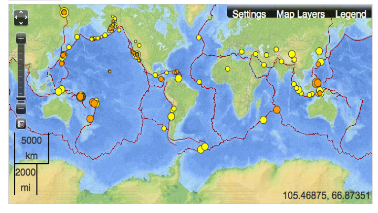 Mapping fault lines in earthquake maps musings on maps usgs global earthquake map gumiabroncs Gallery