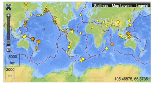USGS Global Earthquake Map