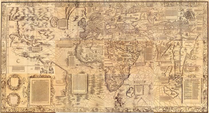 Waldseemuller 1516 carta nautica