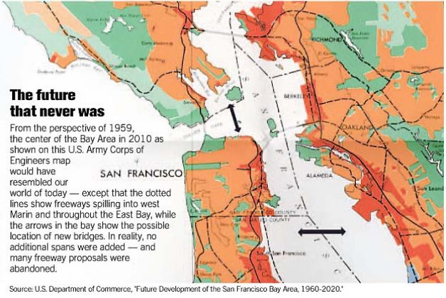 The Basic Idea Later Championed By The Engineer John Reber Was To Push The East Bay Out Three Miles Past I 80 So That Save For A Small Marina Between