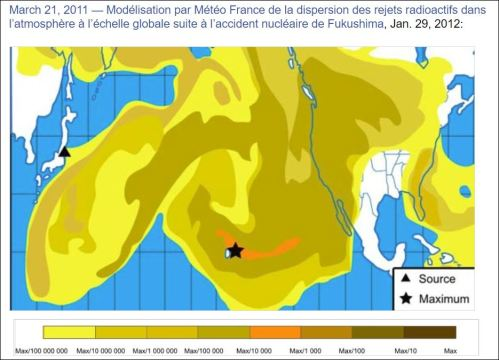 Dispersion of Fukishima 2012