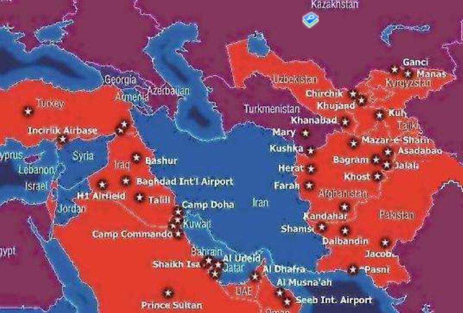 Iraq Investments US Army Bases Around Iran - Army bases in us map