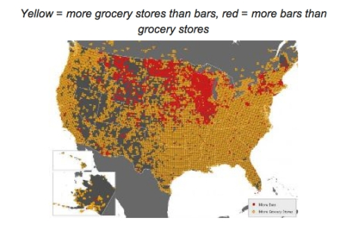 Grocery Stores v. Bars