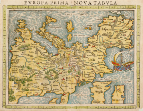 Hand Colored EUROPA 1552 MW