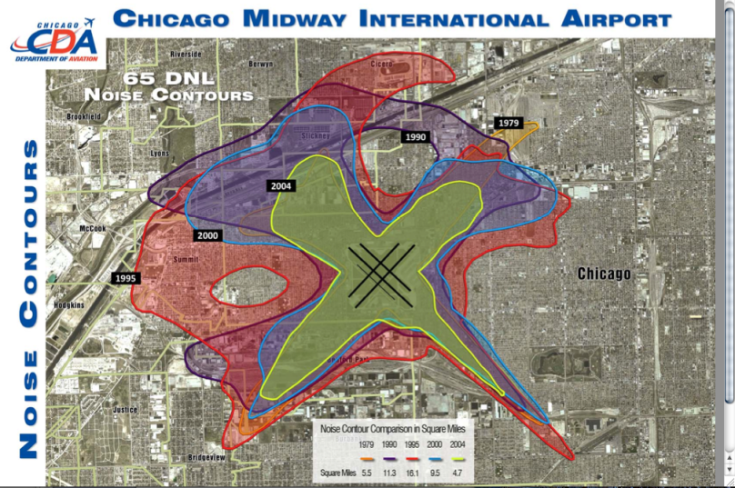 Midway International Airport Noise Contour Map