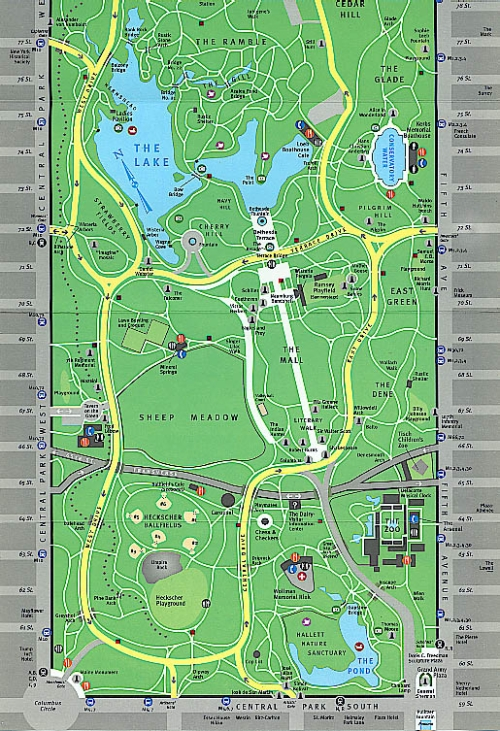 Visitor's Map Central Park