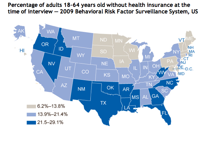 Access to health care--insurance
