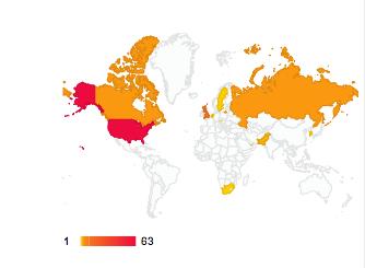 April 16 usage map