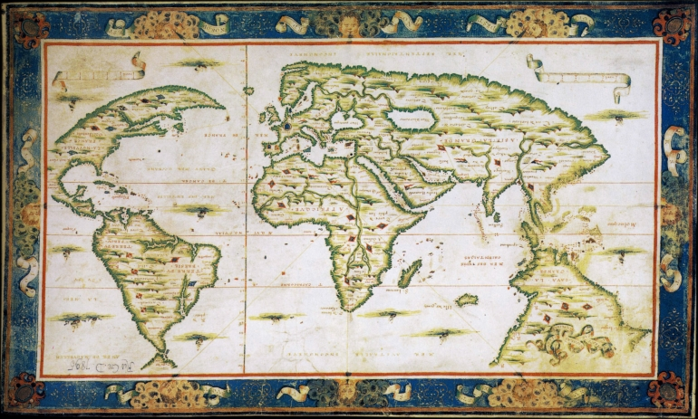 Nicolas_Desliens_ World Map 1566) with Java