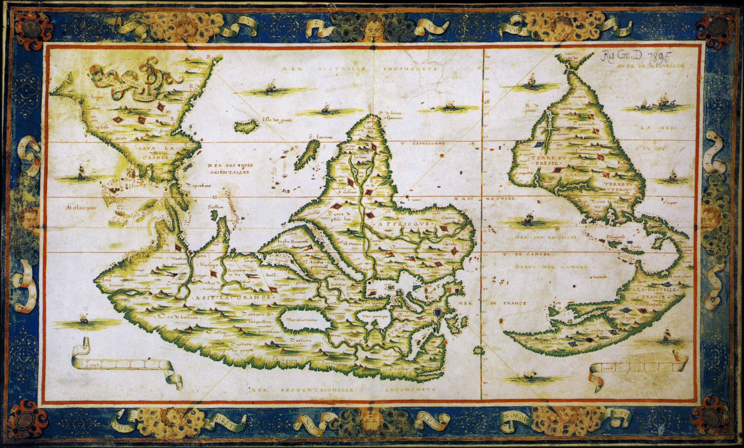 Java la grande musings on maps nicolasdesliens world map 1566 with java gumiabroncs Image collections
