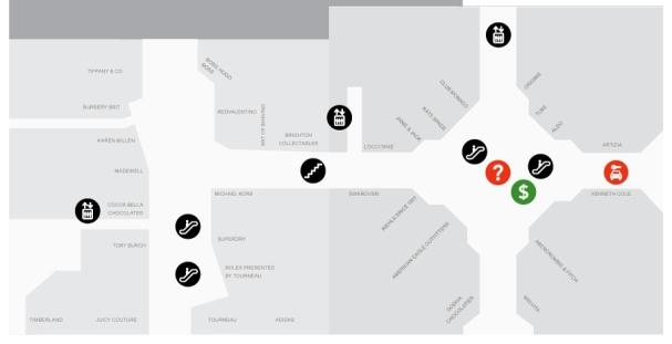 WEstfield mall floor one