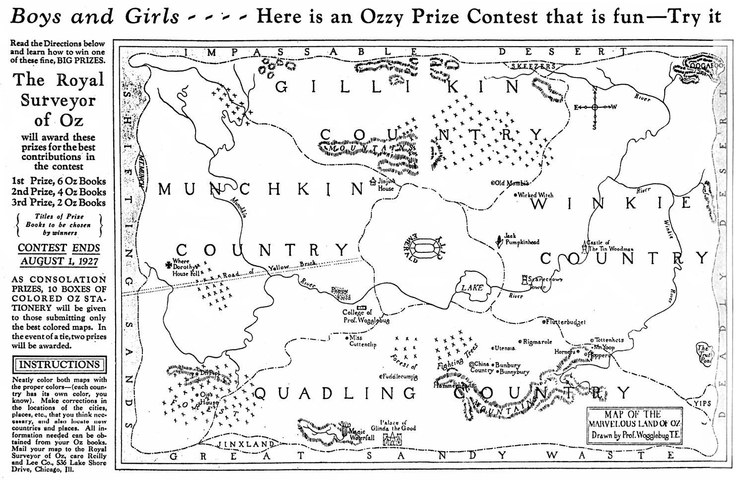 1927 Oz Map