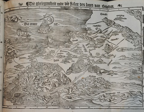 Cranach Bible Map Holy Land toponyms