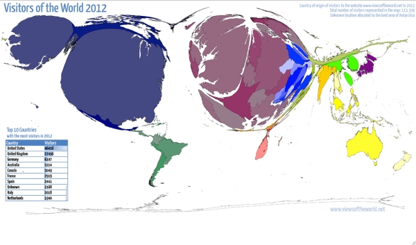 Hennig's Maps' Online Visitors 2012