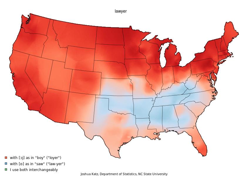 Bert Vaux And Scott Golder Musings On Maps - Us map isolation