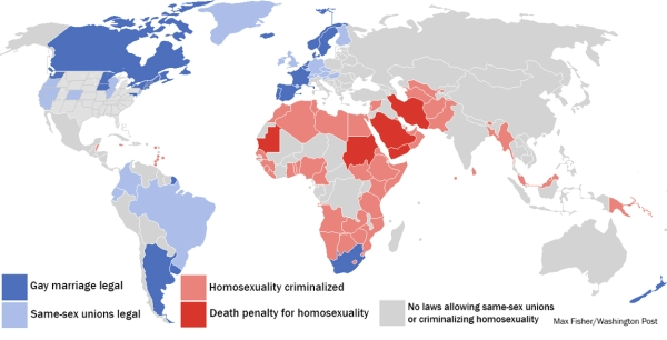 Mapping the Legality of Marriage to Death Penalty