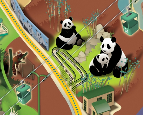 Pandas in SD Zoo Map