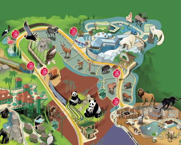 San Diego Zoo Musings On Maps - San diego zoo map