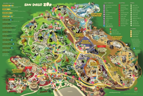 SD ZOO MAP