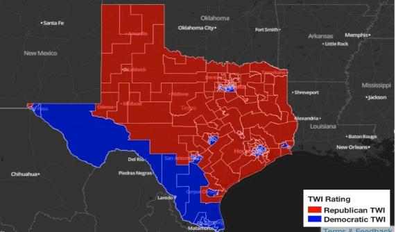 Texas Electoral Map