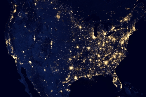 US Illuminated from Space