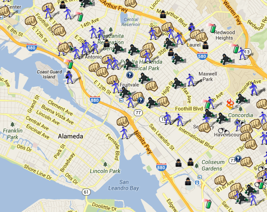Assaults, Arrests, Arson, Burglary, Robbery, Shooting, Theft, Vandalism