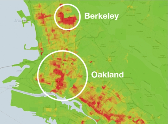 Berkeley:Oakland Crime Density