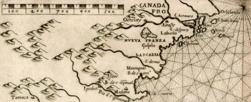 ca 1565 gastaldi map