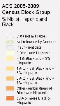 Census Block legend