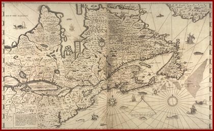 Champlain maps his Voyages on a true meridian