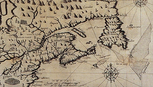 Champlain's coastal map