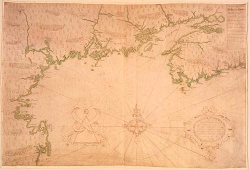 champlains map %22Des Sauvages-  ou voyage de Samuel Champlain, de Brouages, faite en la France novelle l'an 1603%22
