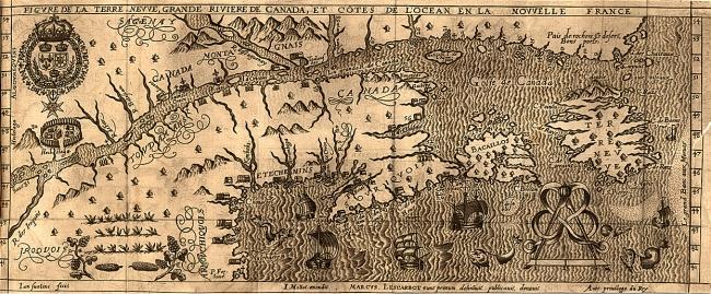 Indians in Canada-  Iroquois, Etechemins, Montaignais