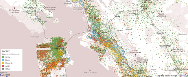 Mapping Race across Bay Area
