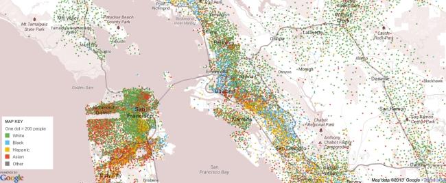 Mapping Race across Bay Area