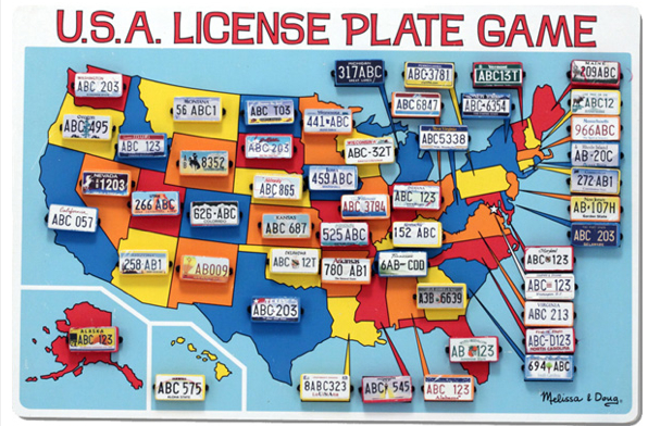 Melissa and Doug License Plates