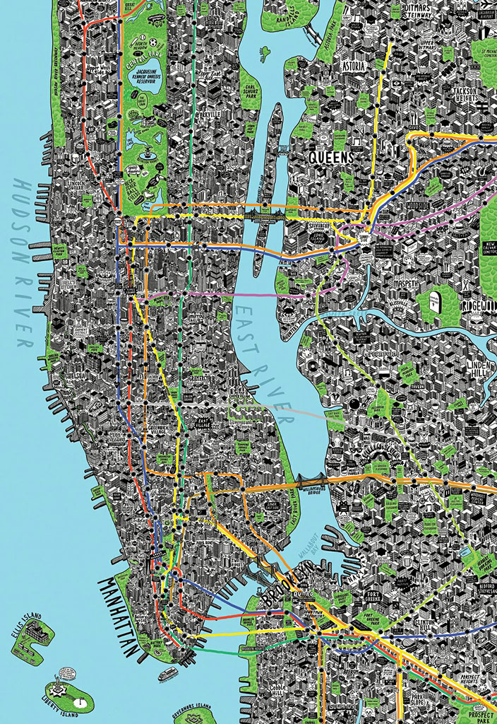 New York map by Jenni Sparks
