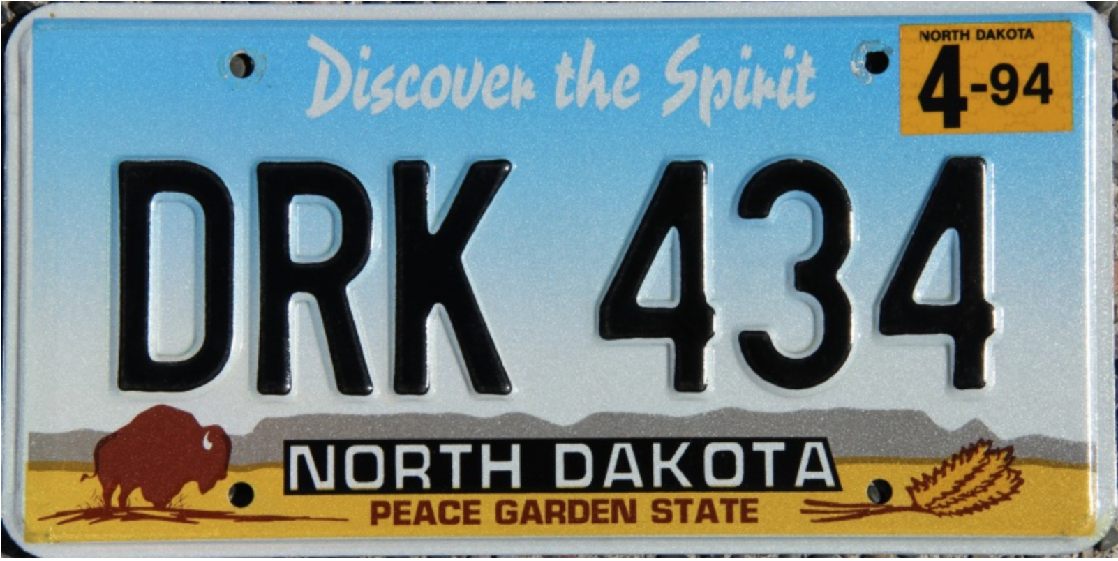 North Dakota 1993 design--best new plate of 1993.png
