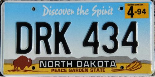 North Dakota 1993 design--best new plate of 1993.png